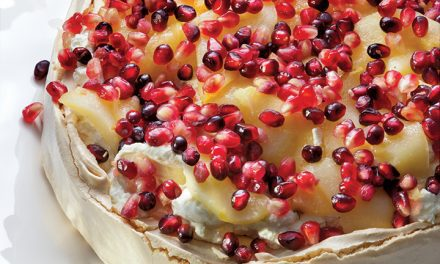 Pear and Pomegranate Pavlova