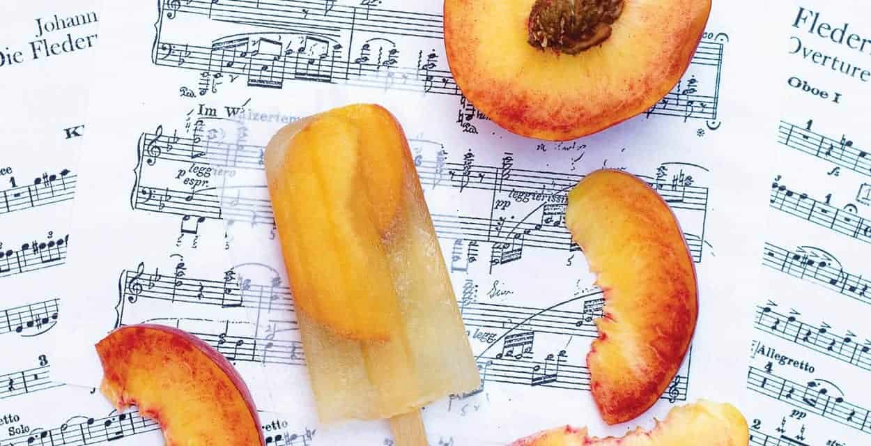 Bourbon & Peach Sweet Tea Popsicles