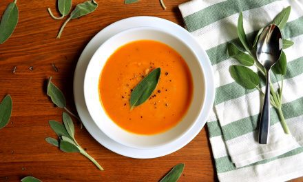 Roasted Butternut Squash and Sweet Potato Soup