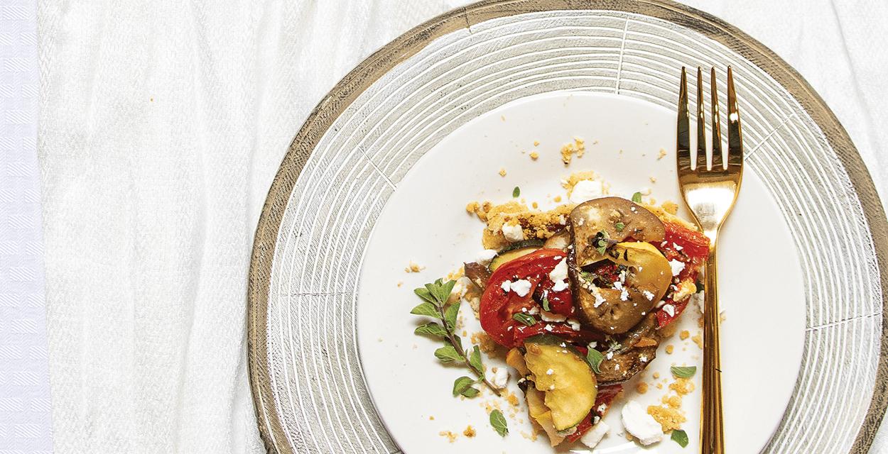 Ratatouille Tart with Tomato-Onion Jam