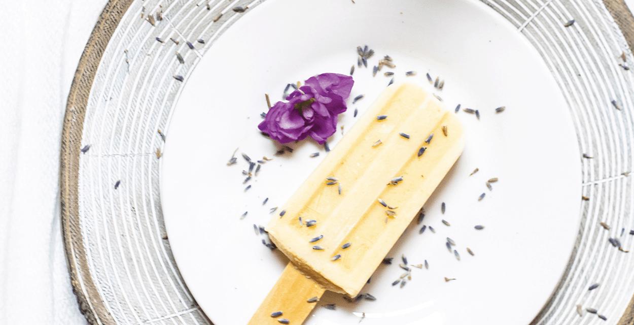 Corn and Lavender Paletas