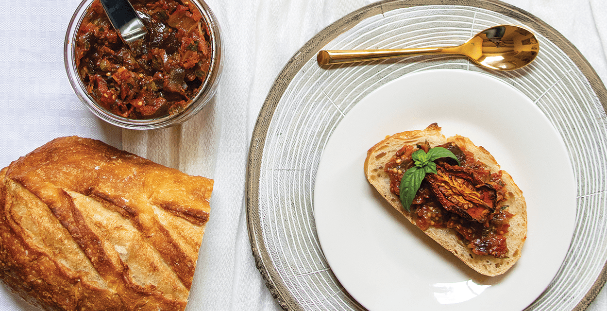 Roasted Eggplant Jam and Sun-Dried Tomatoes