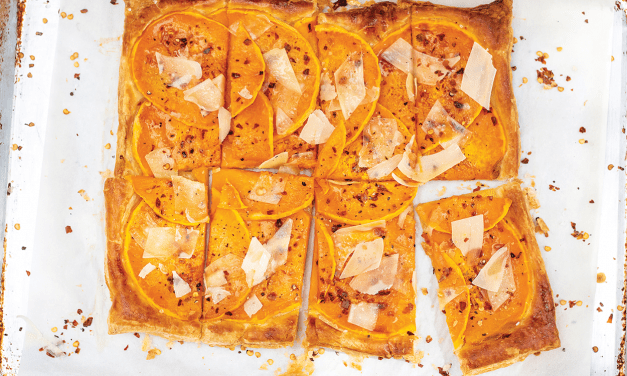 Red Chile-Infused Honey Butternut Squash Tart