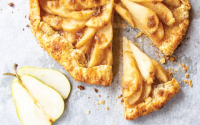 Bourbon-Soaked Pear Galette