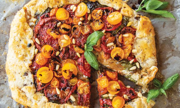 Late Tomato Harvest Caprese with Balsamic Galette