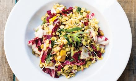 Sprouted Lentils and Golden Beet Salad